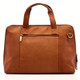 Muiska Ivanka - Women's Leather Business Briefcase - Back View, Saddle