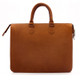 Muiska Monica - Slim Business Leather Briefcase - Back View, Saddle