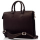 Muiska Monica - Slim Business Leather Briefcase - Front View, Brown