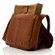 Muiska Dublin - Leather Laptop Messenger Bag - Saddle