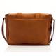 Muiska Dublin - Leather Laptop Messenger Bag - Back View, Saddle