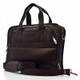 Muiska Milan - Double Handle Leather Computer Briefcase - Front View, Brown