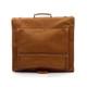 Muiska Havana - Leather Carry All Garment Bag - Back View, Saddle