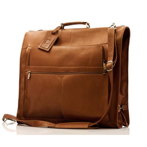Muiska Havana - Leather Carry All Garment Bag - Front View, Saddle