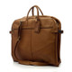 Muiska Rome - Leather Lightweight Garment Bag - Front View 2, Saddle