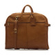 Muiska Rome - Leather Lightweight Garment Bag - Front View, Saddle