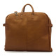 Muiska Rome - Leather Lightweight Garment Bag - Back View, Saddle