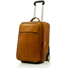 Muiska Leather Wheeled Traveler - Front View, Saddle
