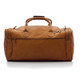 Muiska New York - 22in Leather Duffel Bag - Back View, Saddle