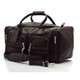 Muiska New York - 22in Leather Duffel Bag - Front View, Brown