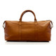 Muiska Madrid - 27in Leather Duffel Bag - Back View, Saddle