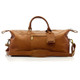 Muiska Madrid - 27in Leather Duffel Bag - Front View 2, Saddle