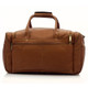 Muiska Hugo - 20in Leather Carry On Duffel Bag - Back View, Saddle