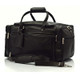 Muiska Hugo - 20in Leather Carry On Duffel Bag - Front View, Black