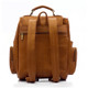 Muiska Refael - Leather Laptop Backpack - Back View, Saddle