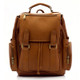 Muiska Refael - Leather Laptop Backpack - Front View 2, Saddle