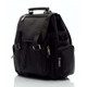 Muiska Refael - Leather Laptop Backpack - Front View, Black