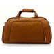 Muiska Luis - Leather Carry On Weekender Duffle - Front View 2, Saddle