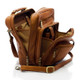 Muiska Carlos - Large Leather Mans Bag - Side Open View, Saddle
