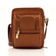 Muiska Daniel - Leather Mans Bag - Front View 2, Saddle