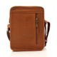 Muiska Daniel - Leather Mans Bag - Back View, Saddle