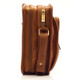 Muiska Daniel - Leather Mans Bag - Side View, Saddle