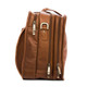 Muiska Sydney - Colombian Leather Triple Compartment Briefcase Organizer - Side View, Saddle