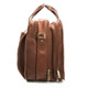 Muiska Madrid - Colombian Leather Triple Compartment Briefcase Satchel - Side View, Saddle