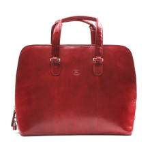 Tony Perotti Womens Italian Bull Leather Italian Bull Leather Classic Zip-Around Leather Business Tote Bag