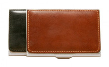 Tony Perotti Unisex Italian Bull Leather Ultimo Business and Credit Card Case