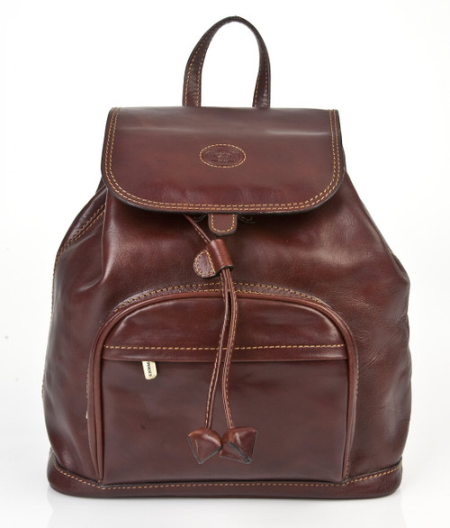Florentina Backpack PI220401 | Color Brown | Front View