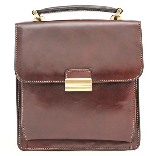 Capri Vertical Flap-Over Carry All Bag PI212005  | Brown