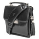 Capri Vertical Flap-Over Carry All Bag PI212005 Black with Strap