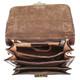 Capri Vertical Flap-Over Carry All Bag PI212005 Brown Open