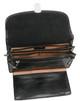 Veneto Horizontal Flap-Over Carry All Bag PI212001 Black Open