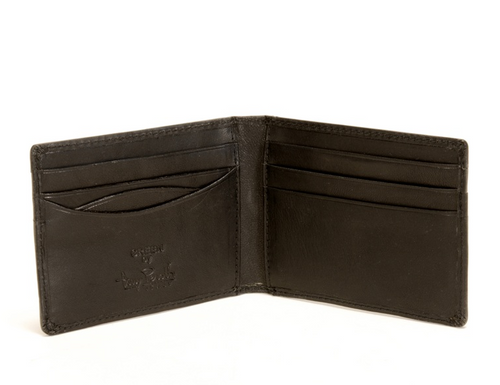 Prima Front Pocket Wallet with Credit Card Slots PG413001| Color Black | Open