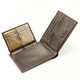 Prima Wallet with Removable Credit Card Case | Open | Color Brown