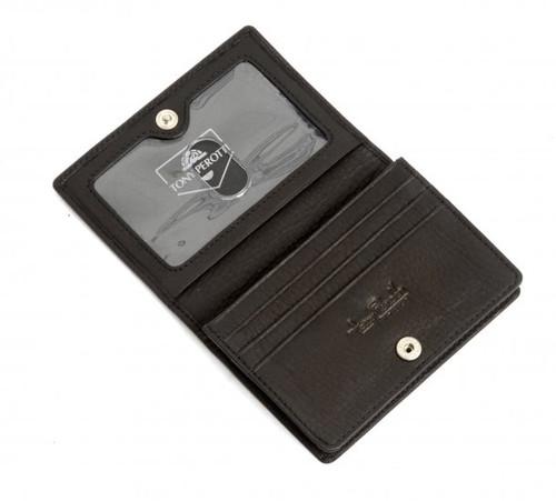 Handmade Italian Leather Wallet   Open