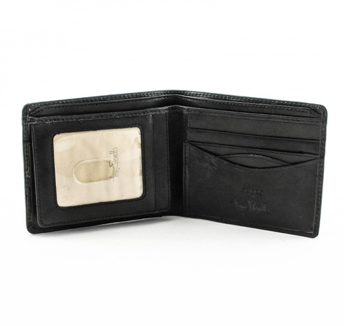 Prima Bi-Fold with Front ID Flap PG418204 | Color Black| Open