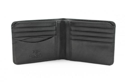 Prima Bi-Fold Wallet PG410101 | Open | Black