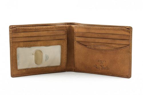 Prima Bi-Fold Wallet with I.D. PG418101 Front Open | Color | Honey