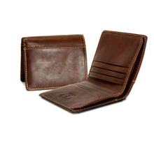 Prima Americano Front Pocket Credit Card Wallet PG413002 | Color Brown | Back And Side Open