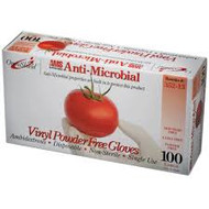 AMS Vinyl Powder Free Anti-Microbial Gloves