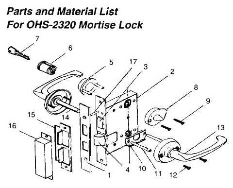 Impa 490126 Lever Handle Brass For Mortise Lock Ohs 2320