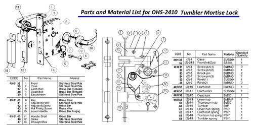 impa 490361 lever hub spring no 16 for mortise lock ohs 2410 rh tssmarine com baldwin mortise lock diagram mortise lock repair diagram