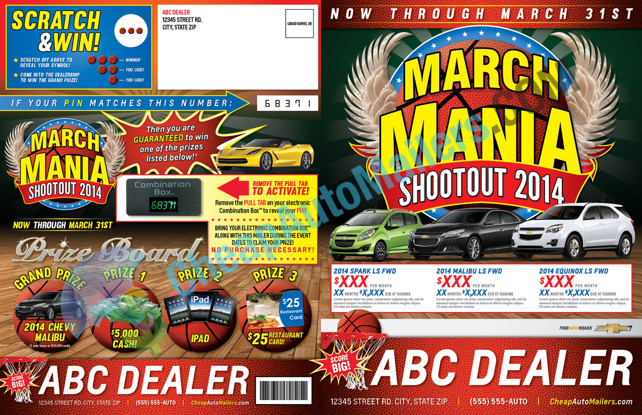 march mania mailer march mailer basketball mailer auto. Black Bedroom Furniture Sets. Home Design Ideas