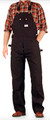 Men's Black Duck Bib Overalls by Round House