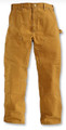 Men's Brown Duck Double Front Painter Drill Dungarees by Round House