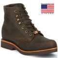 "6"" Chocolate Apache Steel Toe Lace Up by Chippewa"