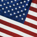 This 8'x12' 2-ply spun polyester U.S. flag comes with extra heavy, white polyester canvas heading with nylon rope and galvanized thimbles for added strength. This flag has sewn stripes and embroidered stars. Flag is 100% made in the U.S.A.